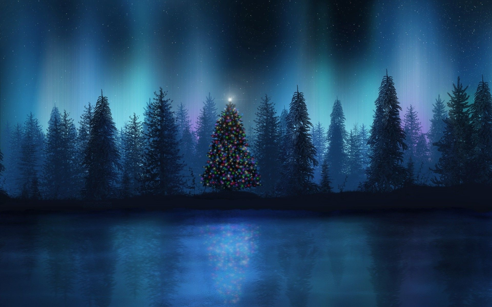 Forest Christmas Wallpapers Wallpaper Cave