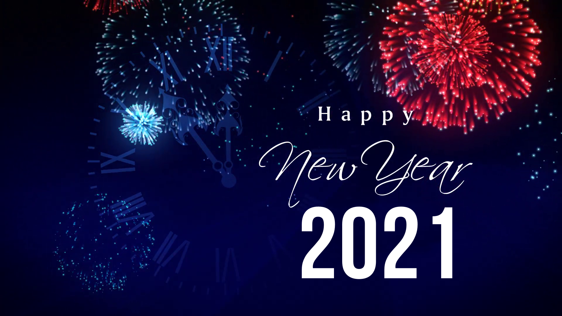 Happy New Year 2021 1920x1080 Wallpapers Wallpaper Cave