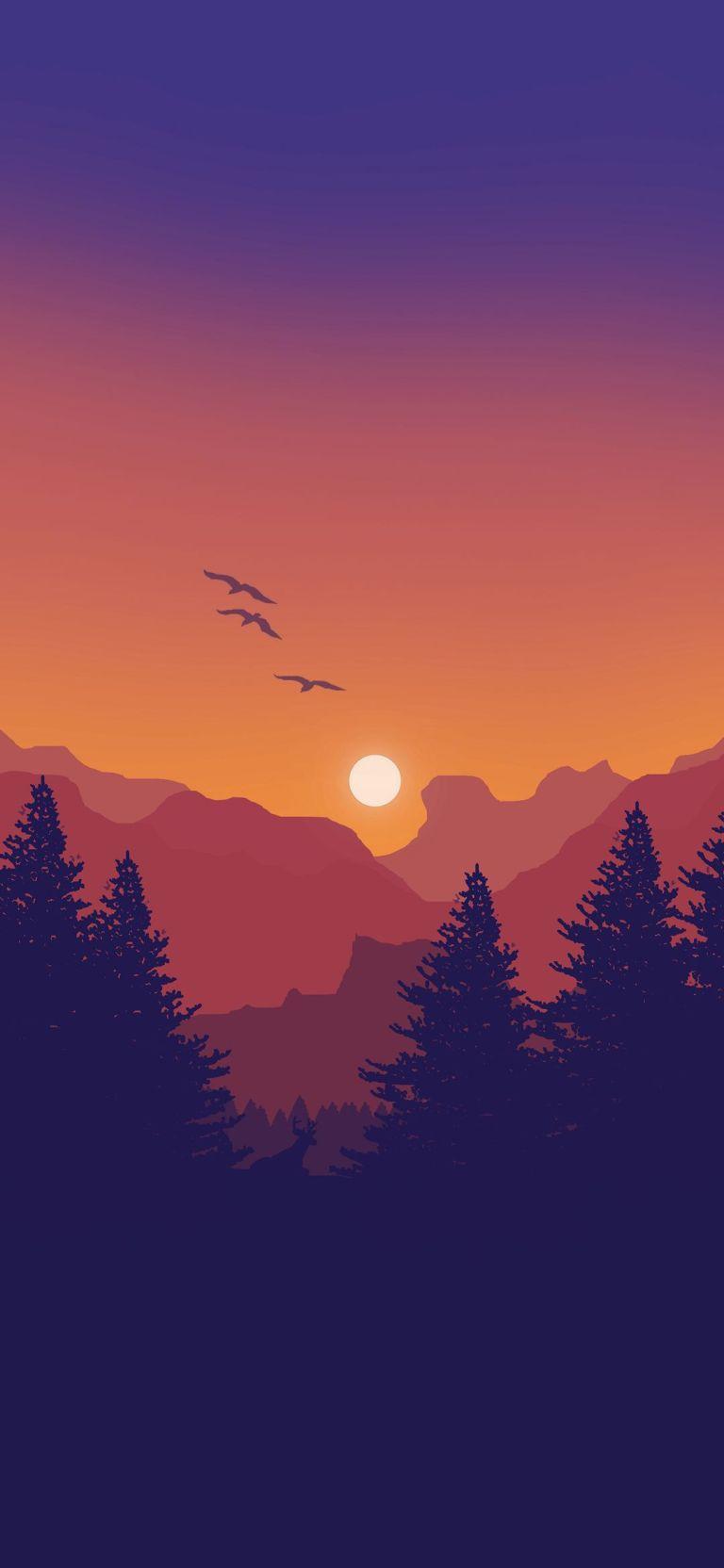 Minimal Mountain iPhone Wallpapers ...