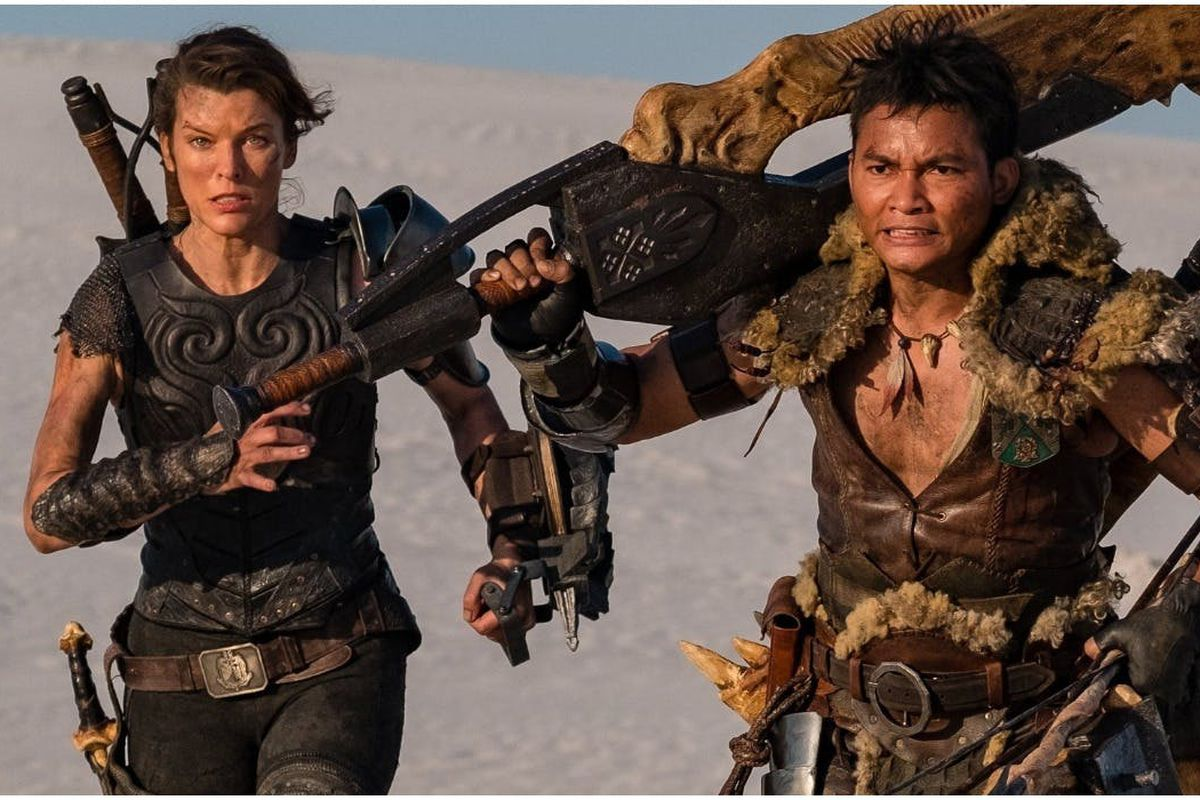 Monster Hunter movie posters show off Milla Jovovich's Giant Jawblade