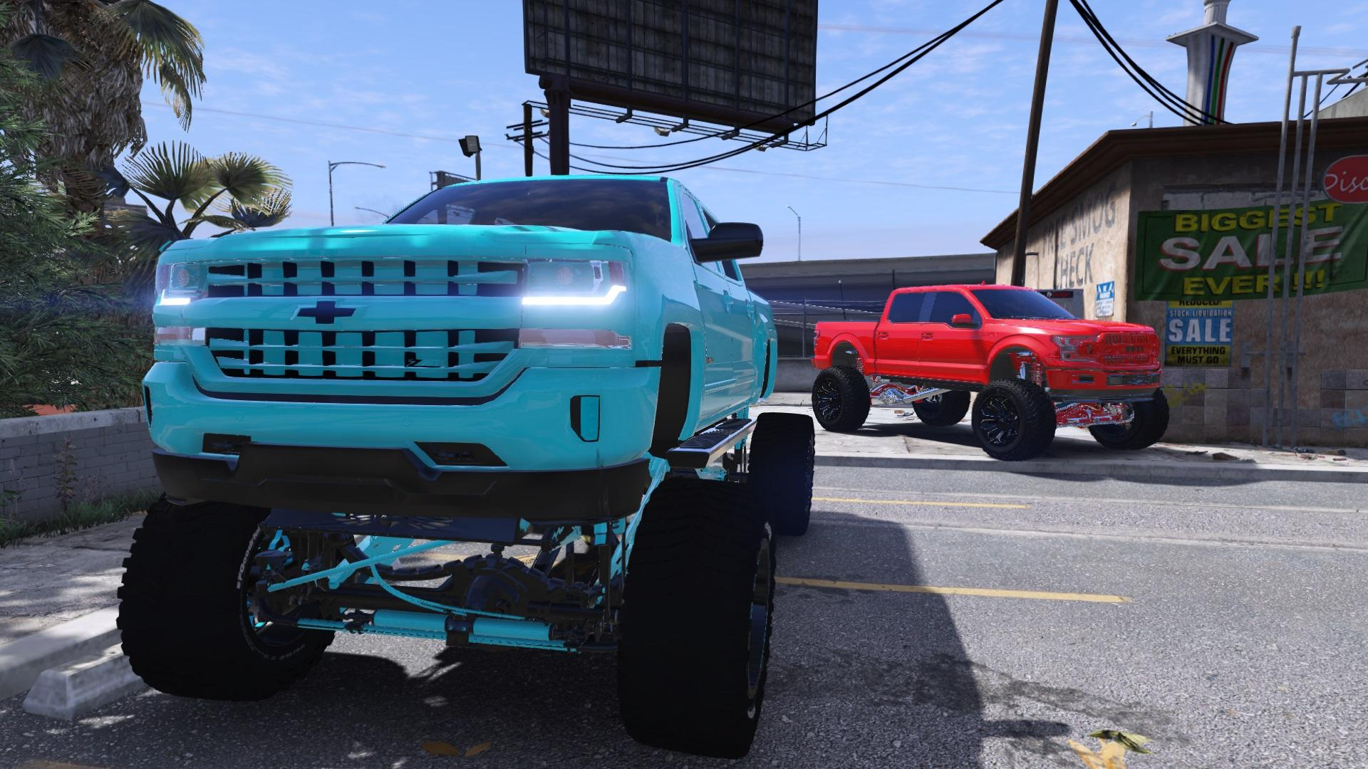 lifted chevy silverado addon gta5 mods trucks beta chevrolet truck squatted wallpapers gta mod rims vehicles replace cars gtainside screenshots