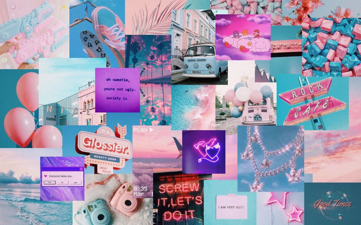 Aesthetic Blue And Pink Pc Wallpapers Wallpaper Cave