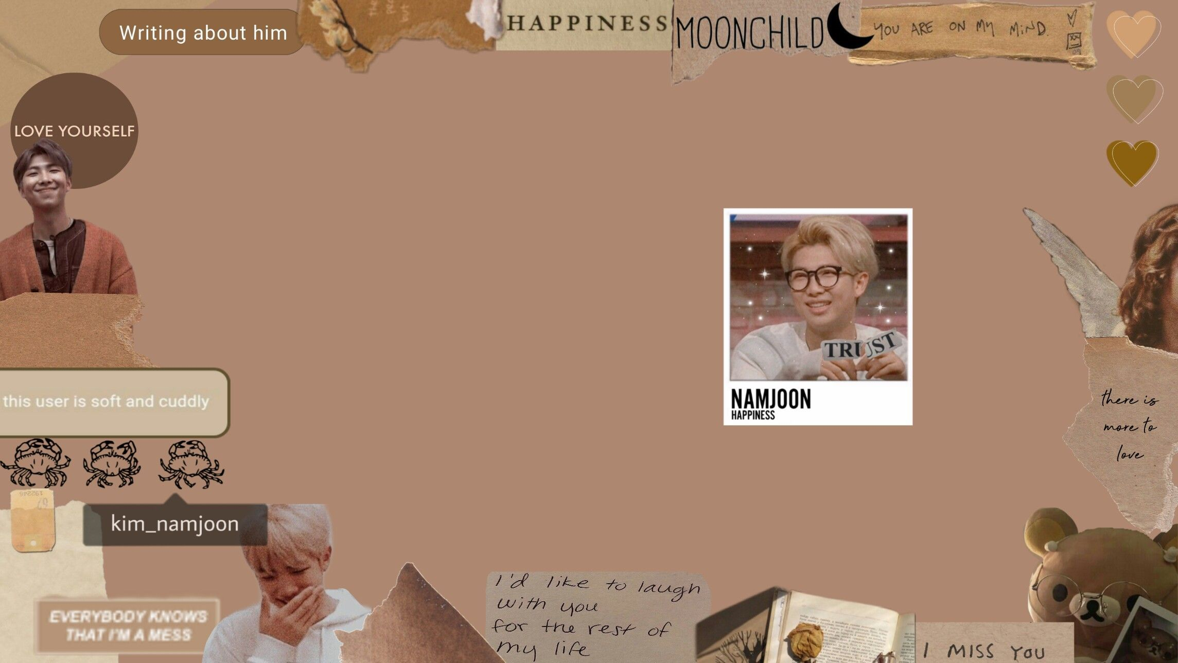 brown aesthetic wallpaper laptop