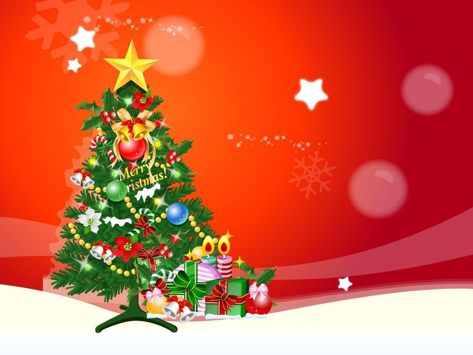 Christmas Cartoon Tree Wallpapers Wallpaper Cave
