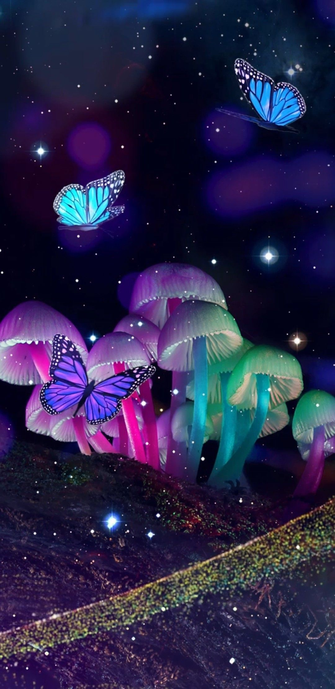 Neon Butterfly Wallpapers Wallpaper Cave