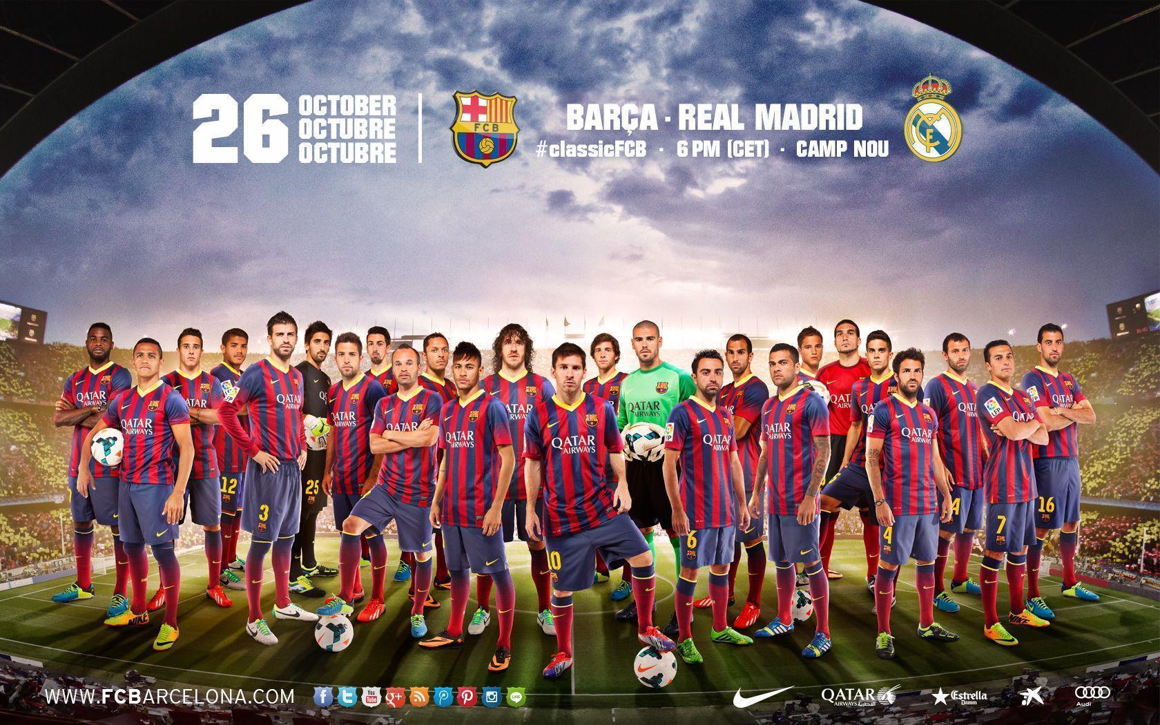 FC Barcelona National Football Team Zoom Background 2
