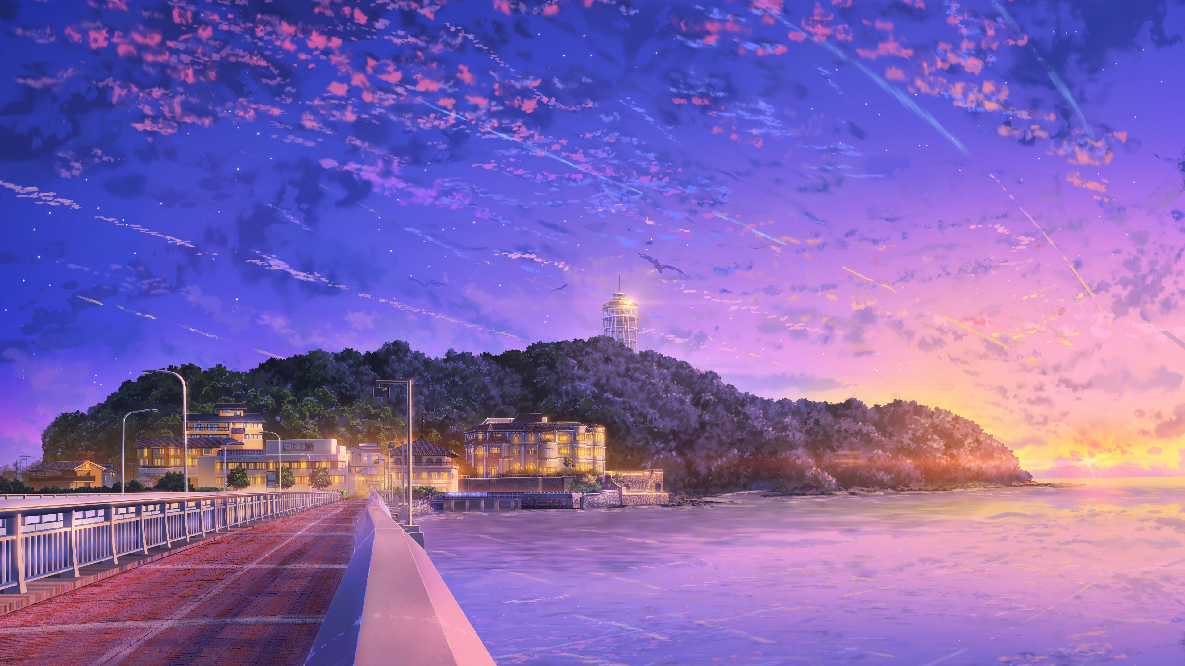 Hd 4k Anime Landscape Wallpapers Wallpaper Cave