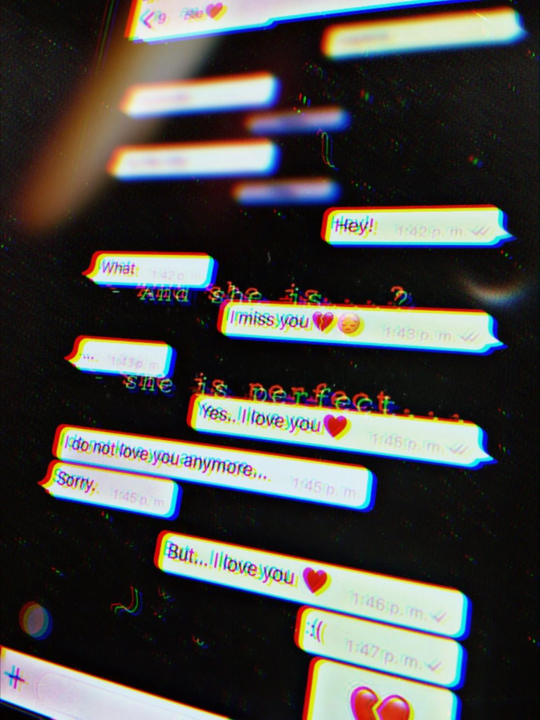 Sad love texts