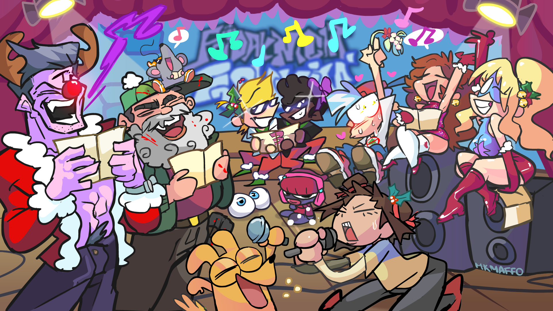 Holy Nights Funkin! by MKMaffo on Newgrounds