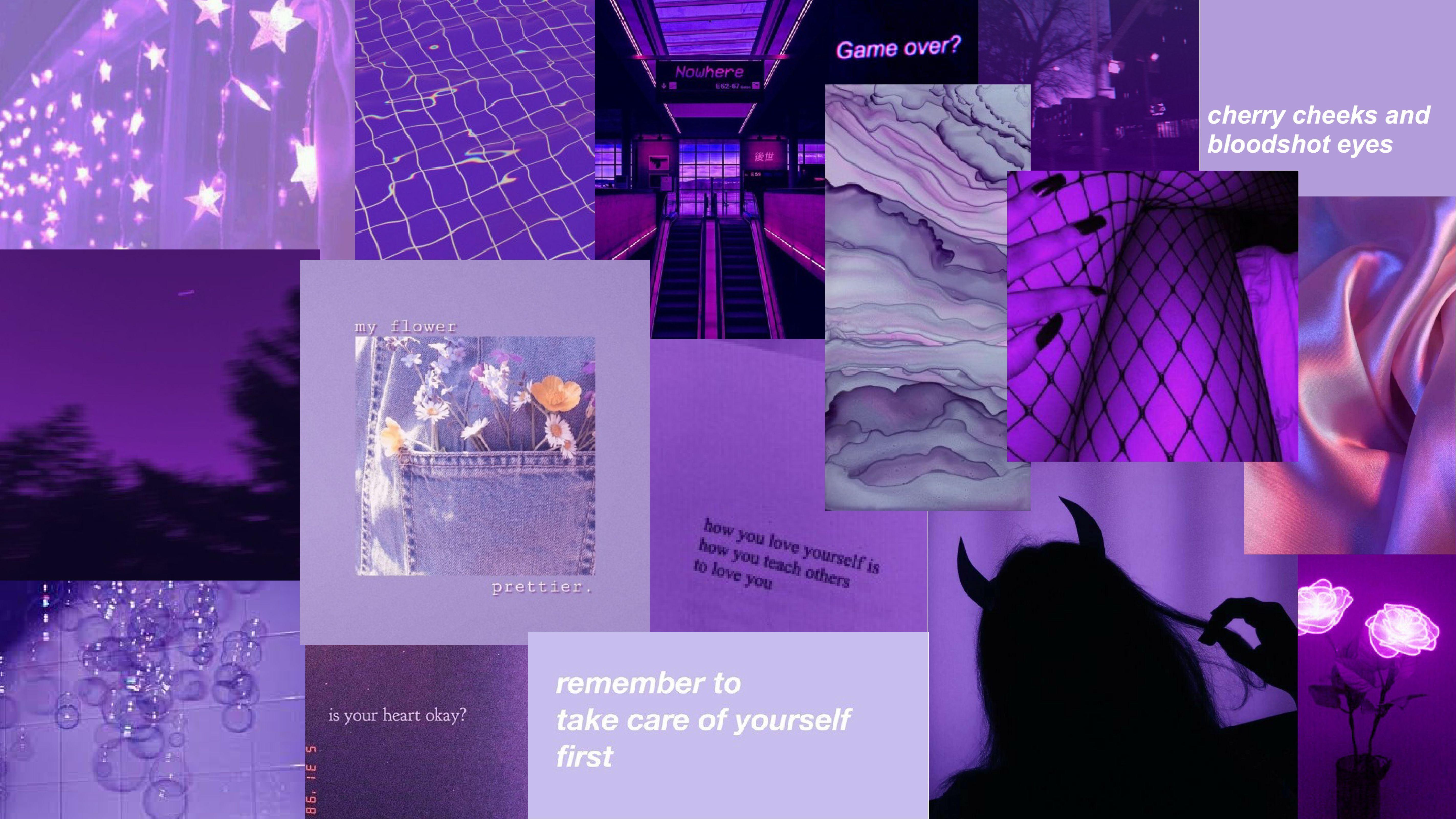 Purple Aesthetic Desktop Wallpapers - Wallpaper Cave