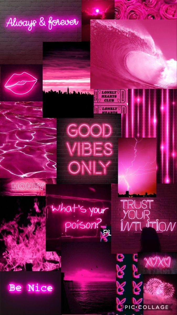 Neon Pink Aesthetics Wallpapers   Wallpaper Cave