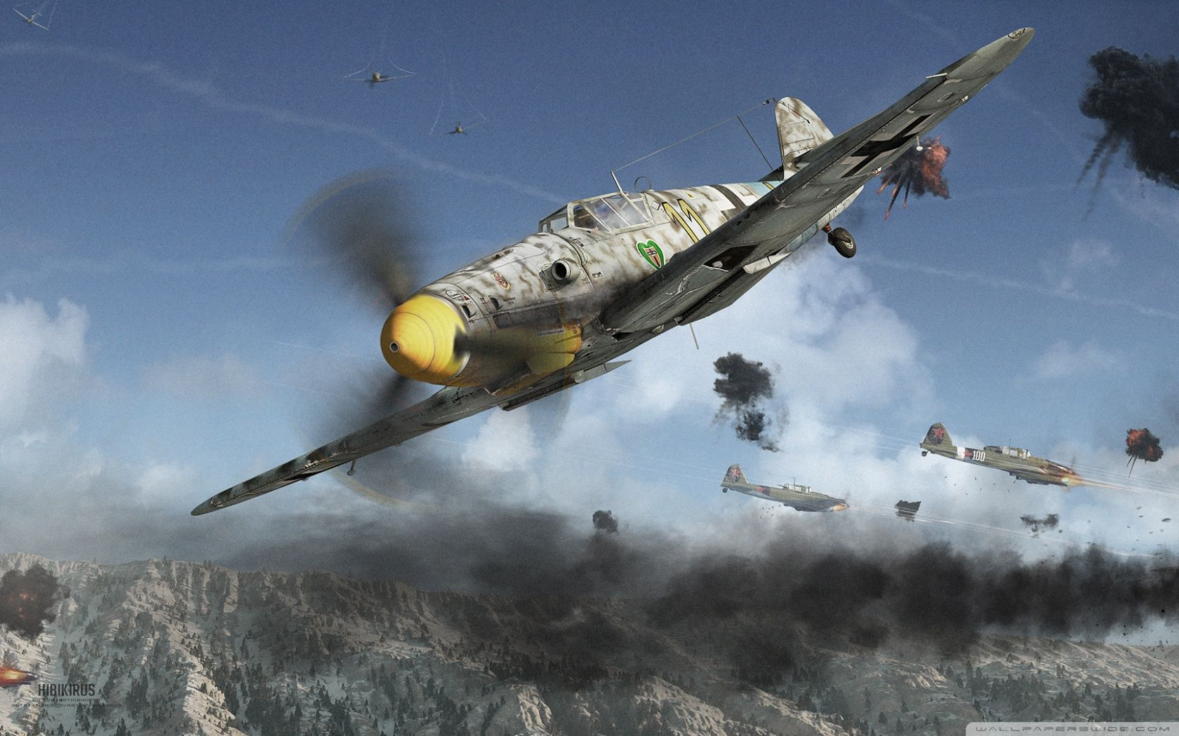 17 Kills in a Day - True Story of Hans-Joachim Marseille - WWII Historic Dogfights Recreation