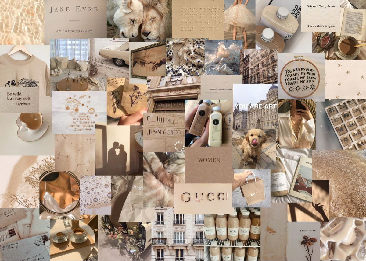 beige collage wallpapers