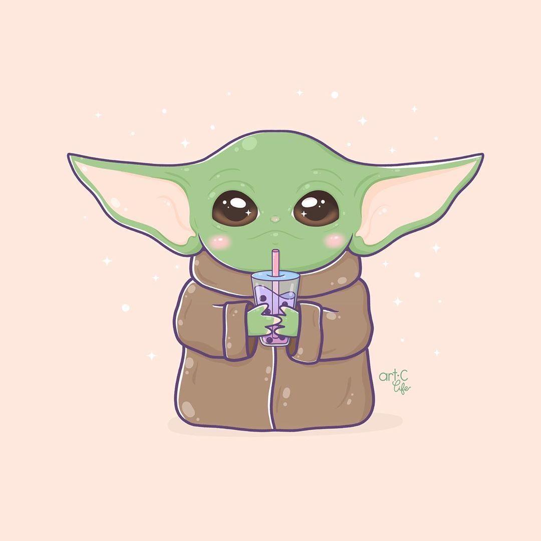 Cute Baby Yoda Drawings Wallpapers Wallpaper Cave