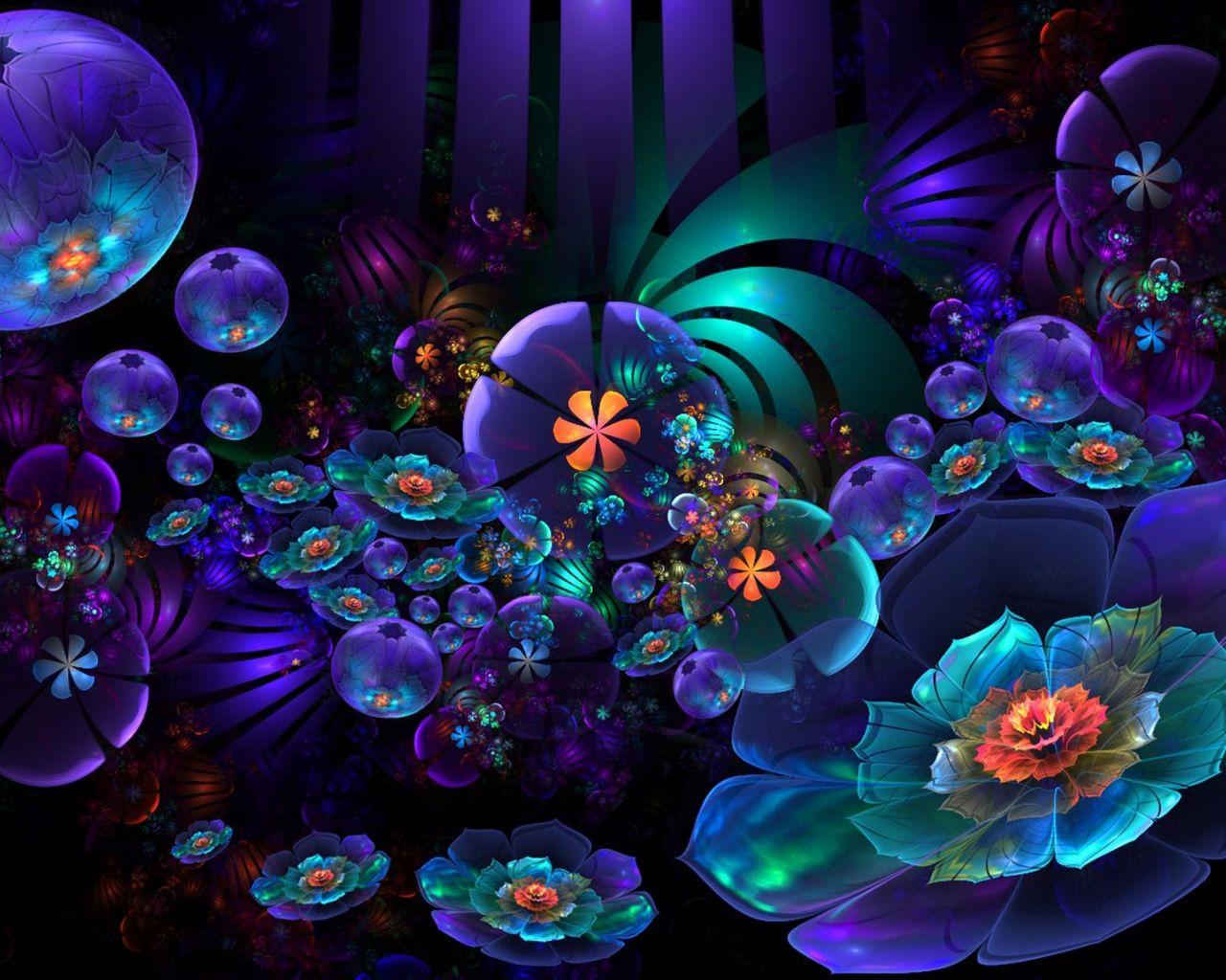 Neon Flower Wallpapers - Wallpaper Cave