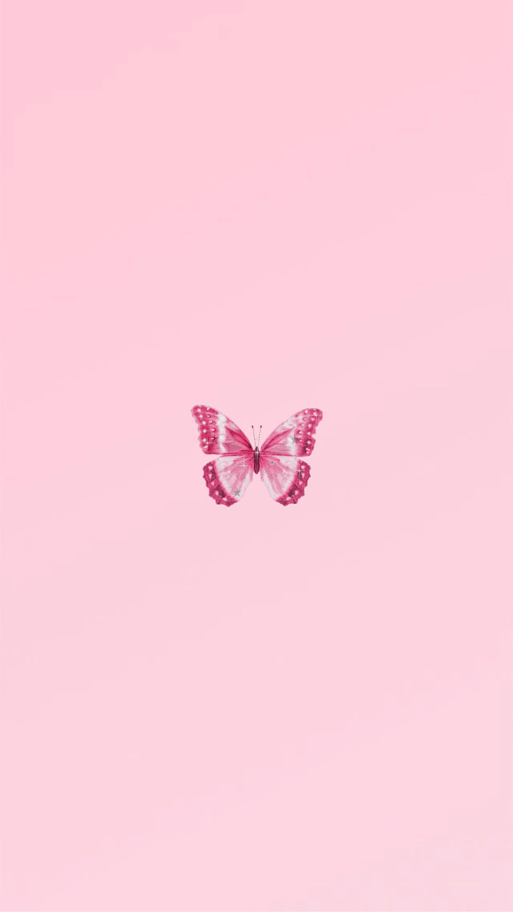 Cute Aesthetic Pink Butterfly Wallpapers Wallpaper Cave