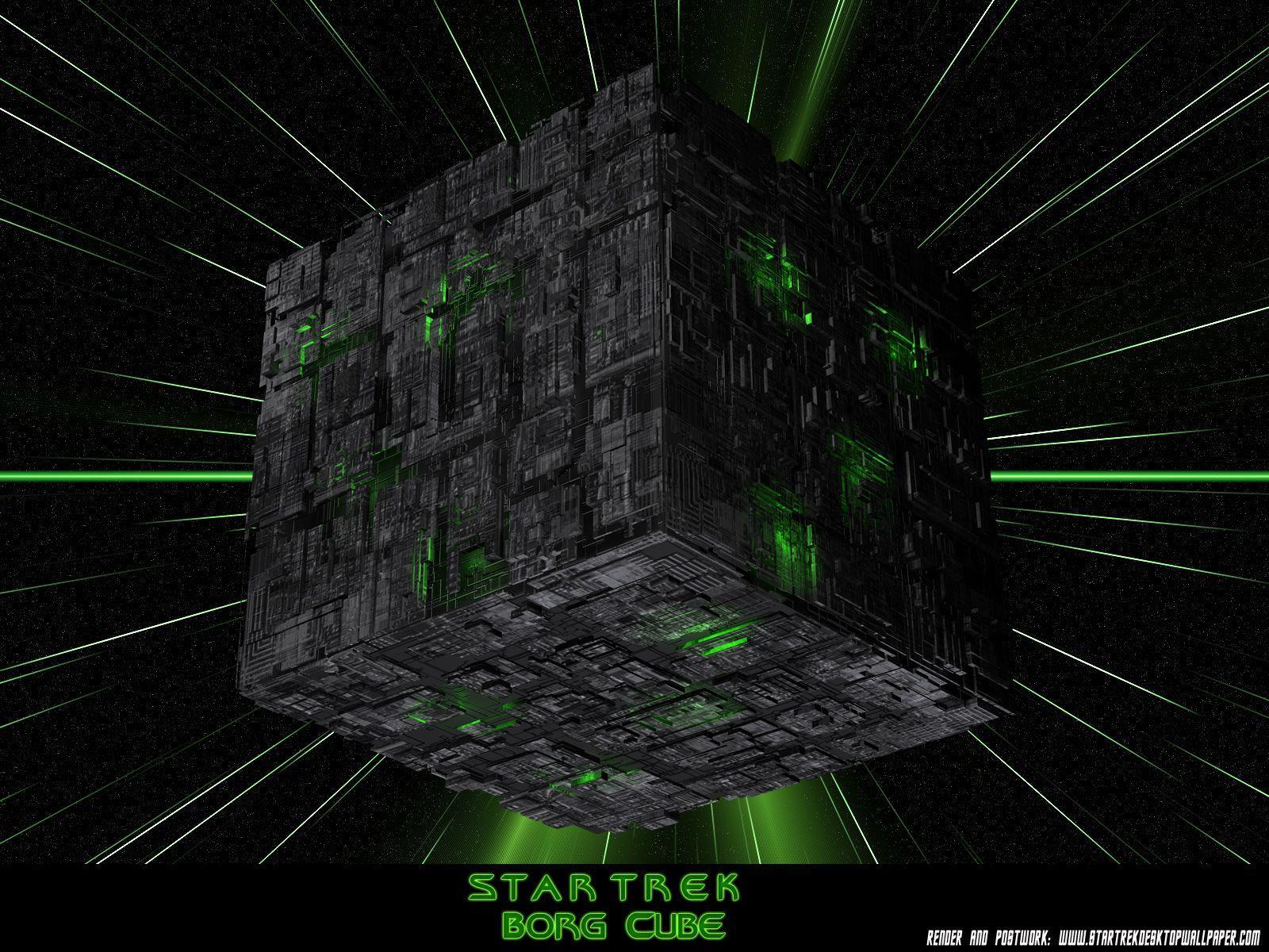 Star Trek Borg Cube Wallpapers Wallpaper Cave