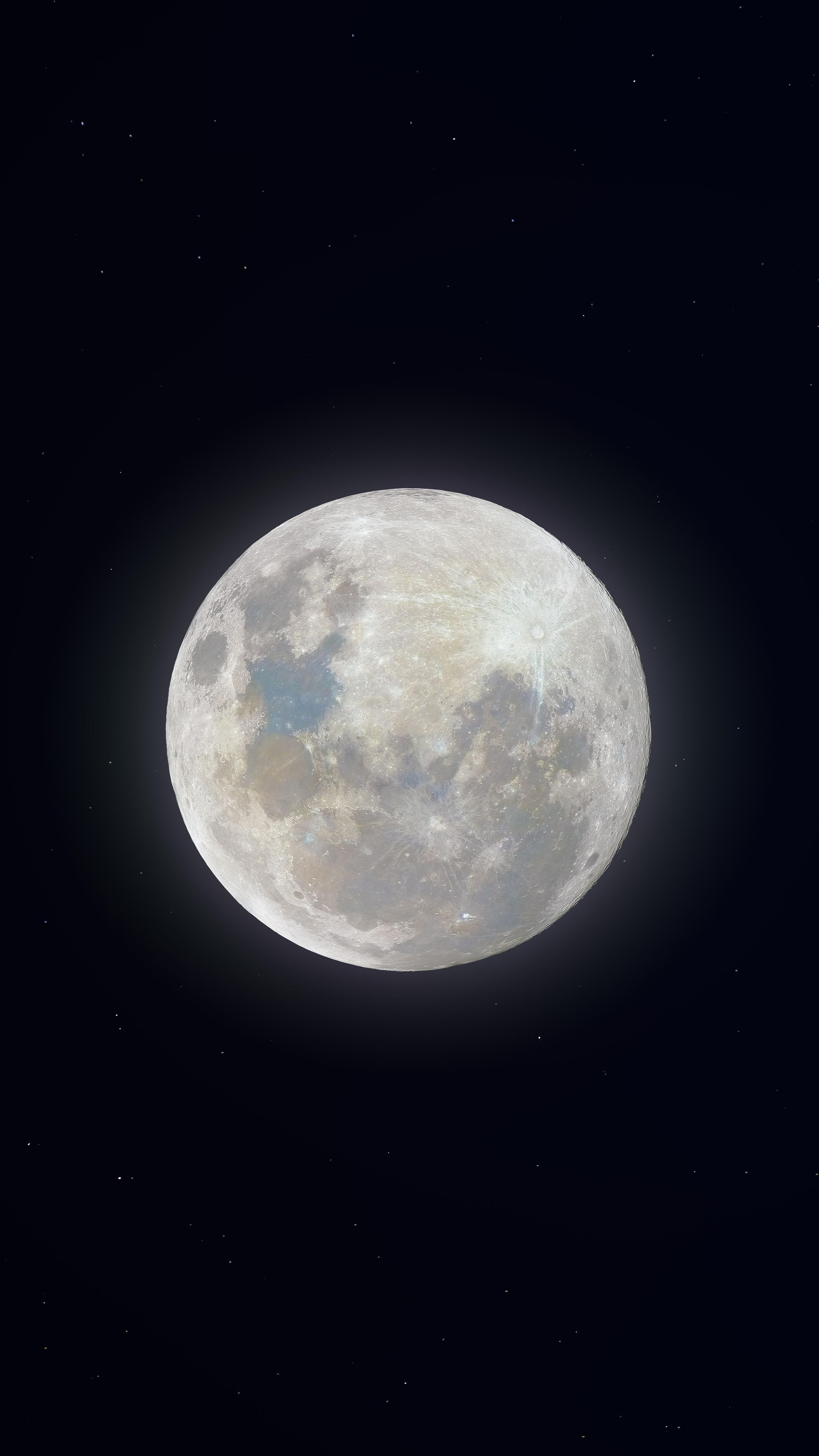 2160x3840 Super moon, glow, white wallpapers