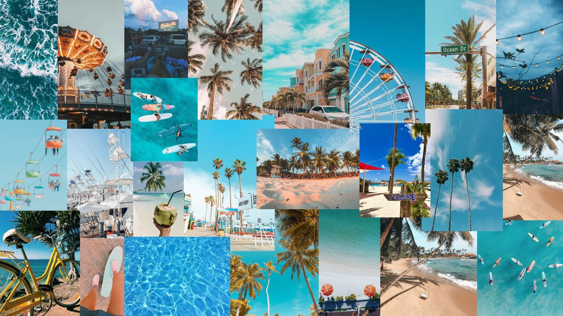 Laptop Collage Summer Wallpapers Wallpaper Cave