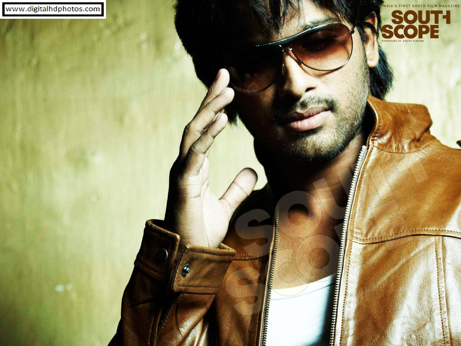 allu arjun in arya 2 wallpapers,eyewear,cool,album cover,music,movie,sunglasses,vision care,glasses,leather,jacket,