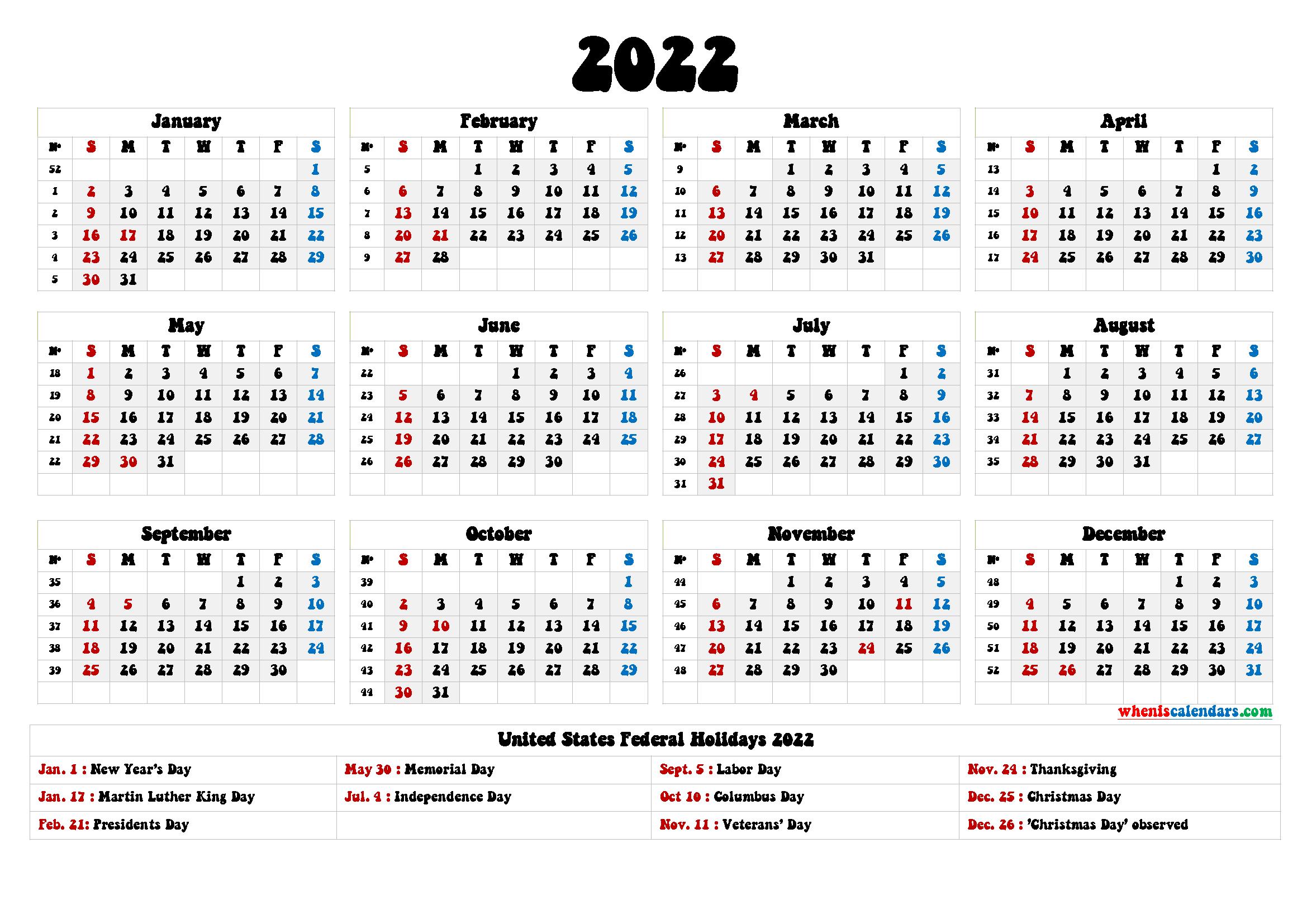 2022 Calendar Wallpapers Wallpaper Cave