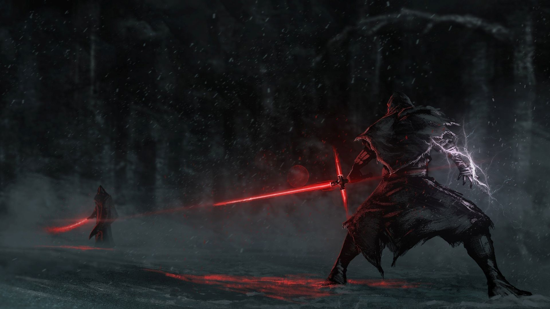 Star Wars Lightsaber Duel Wallpapers