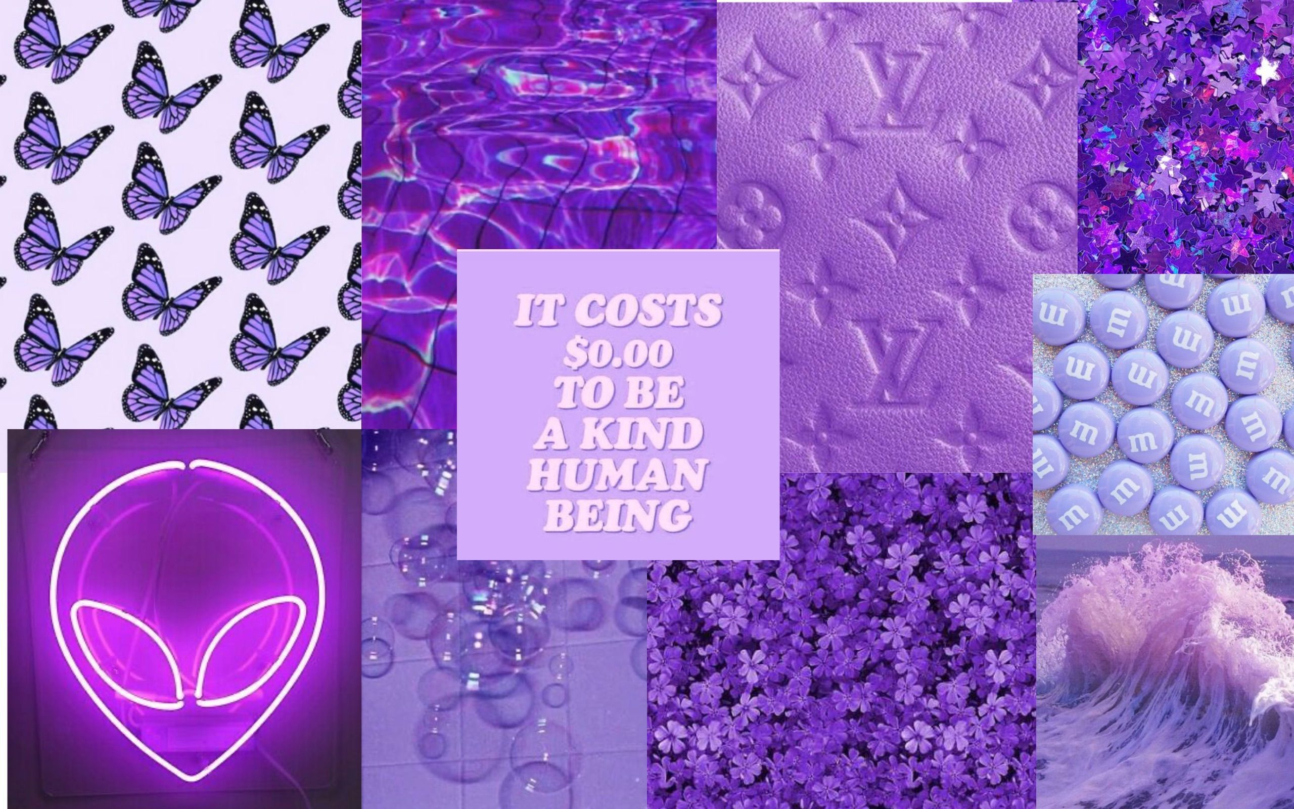 Purple Aesthetic Collage 4k Wallpapers Wallpaper Cave