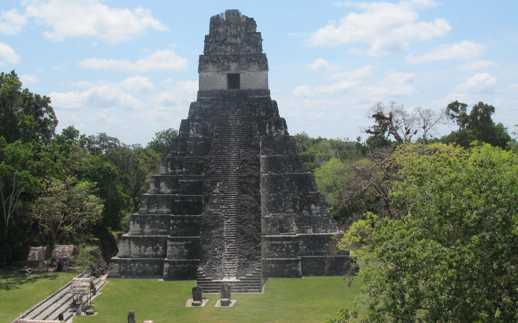 Tikal Great Plaza Tikal Guatemala Wallpapers