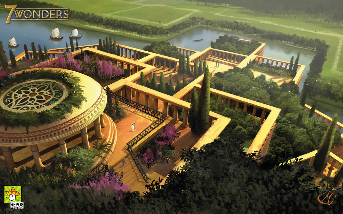 Hanging gardens of babylon wallpapers wallpaper cave for Garden information sites