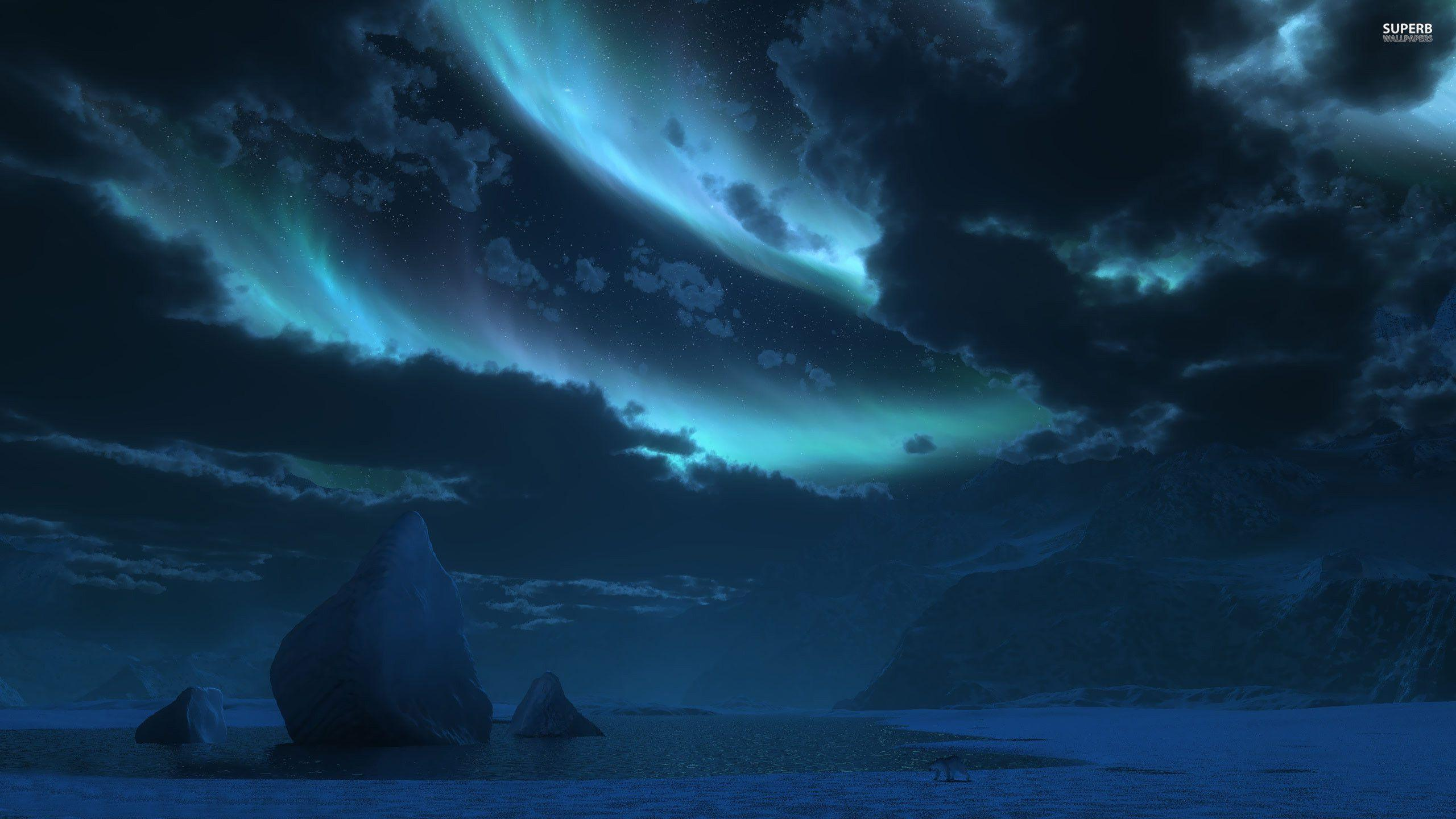 antarctica and clouds wallpaper - photo #2