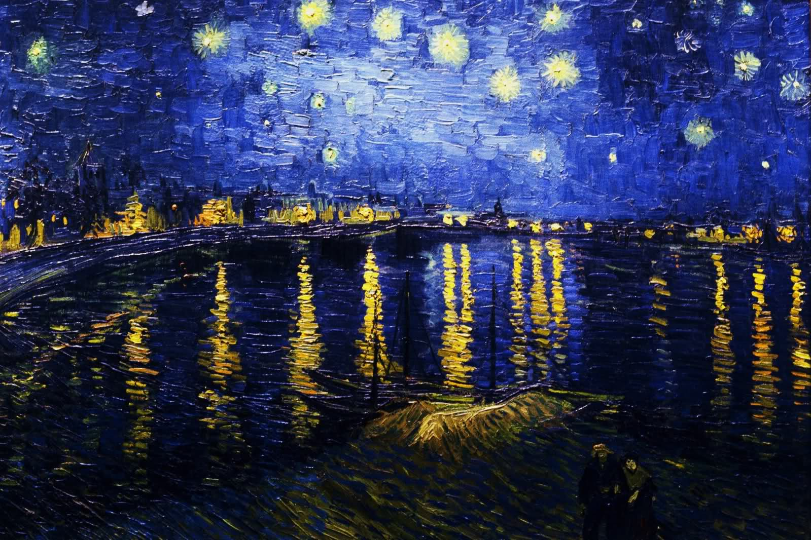 Image For > Starry Night Over The Rhone High Resolution