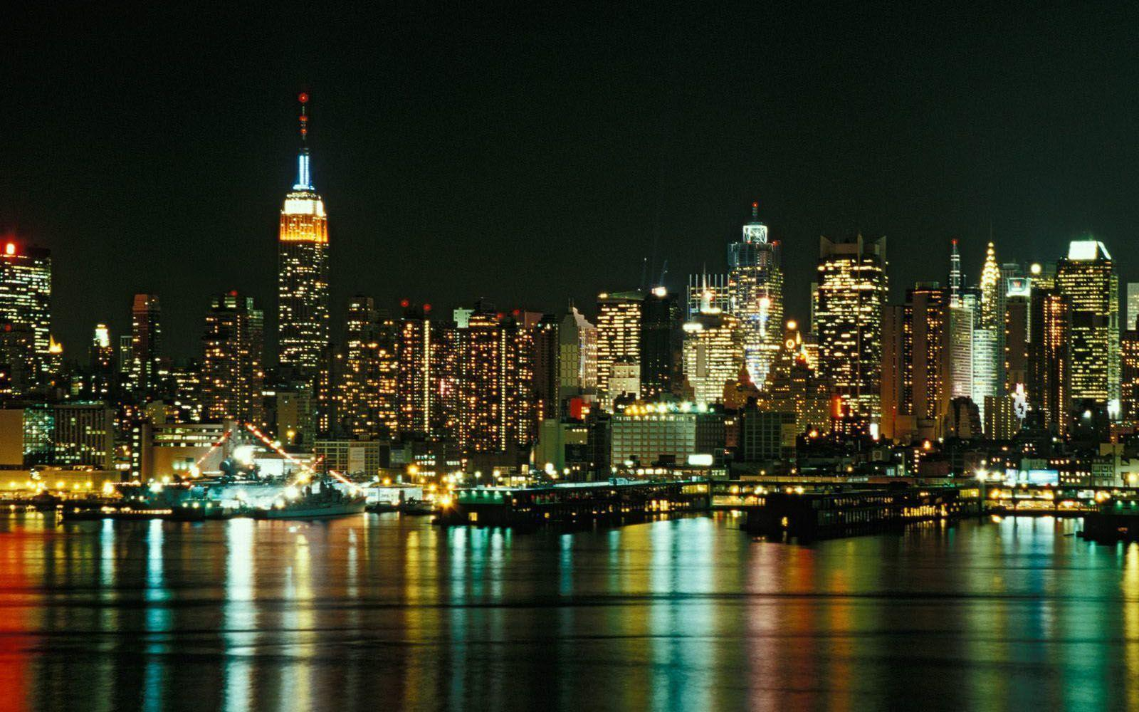 New York City At Night Free Wallpapers Download Wallpapers