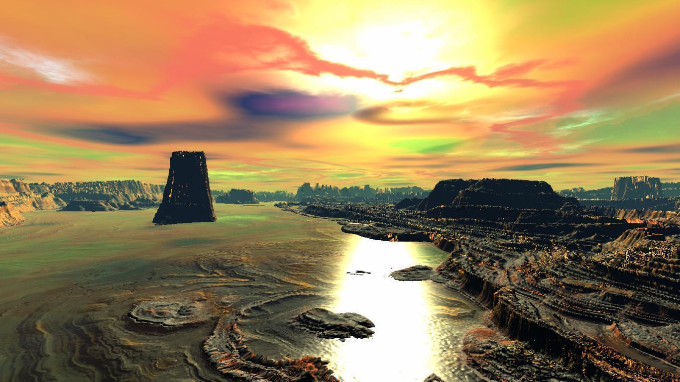 Widescreen Computer Art Hd Desktop Wallpapers Paintings: Windows Landscape Wallpapers