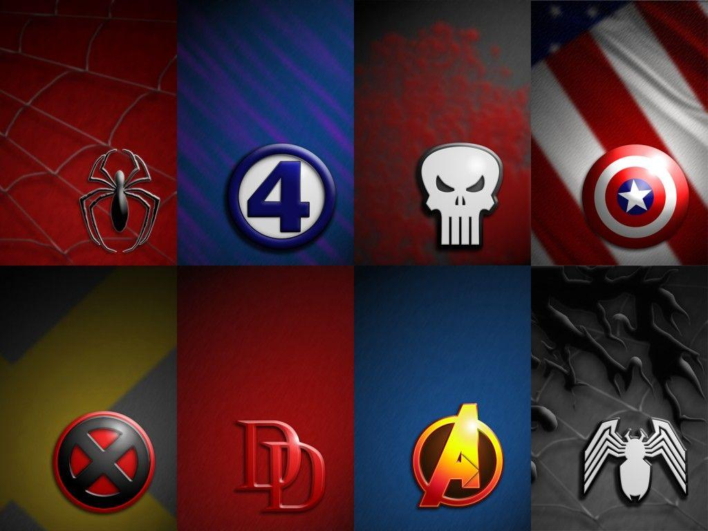 Pix For > Superheroes Logos Wallpapers