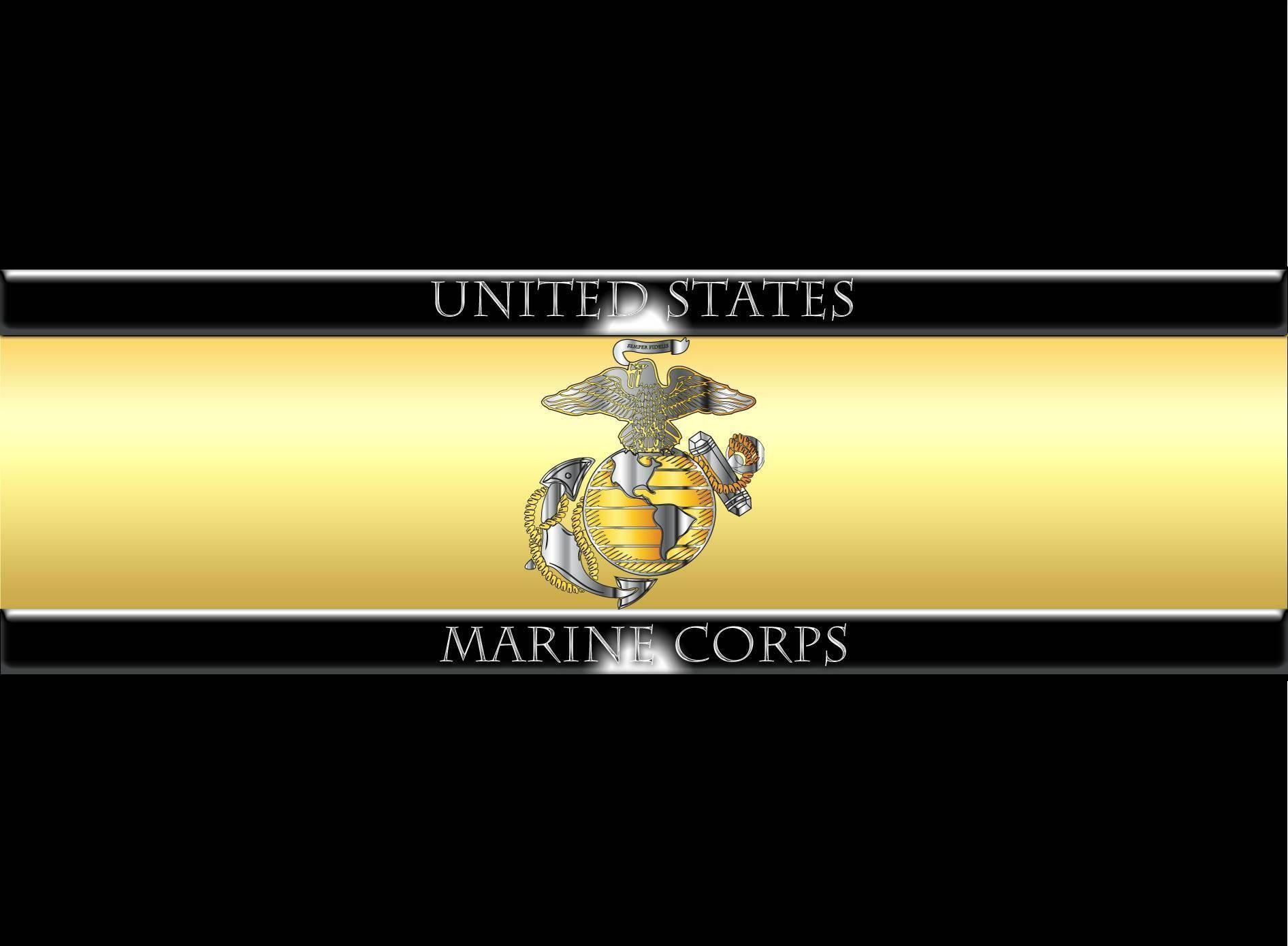 USMC Logo Gold Wallpaper taken from US Marine Corps Wallpaper ...