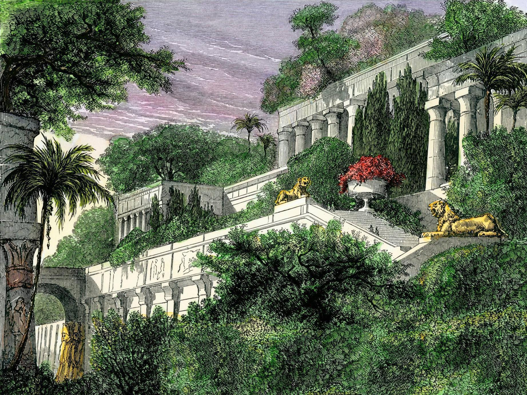 Hanging gardens of babylon wallpapers wallpaper cave for When was the hanging gardens of babylon destroyed