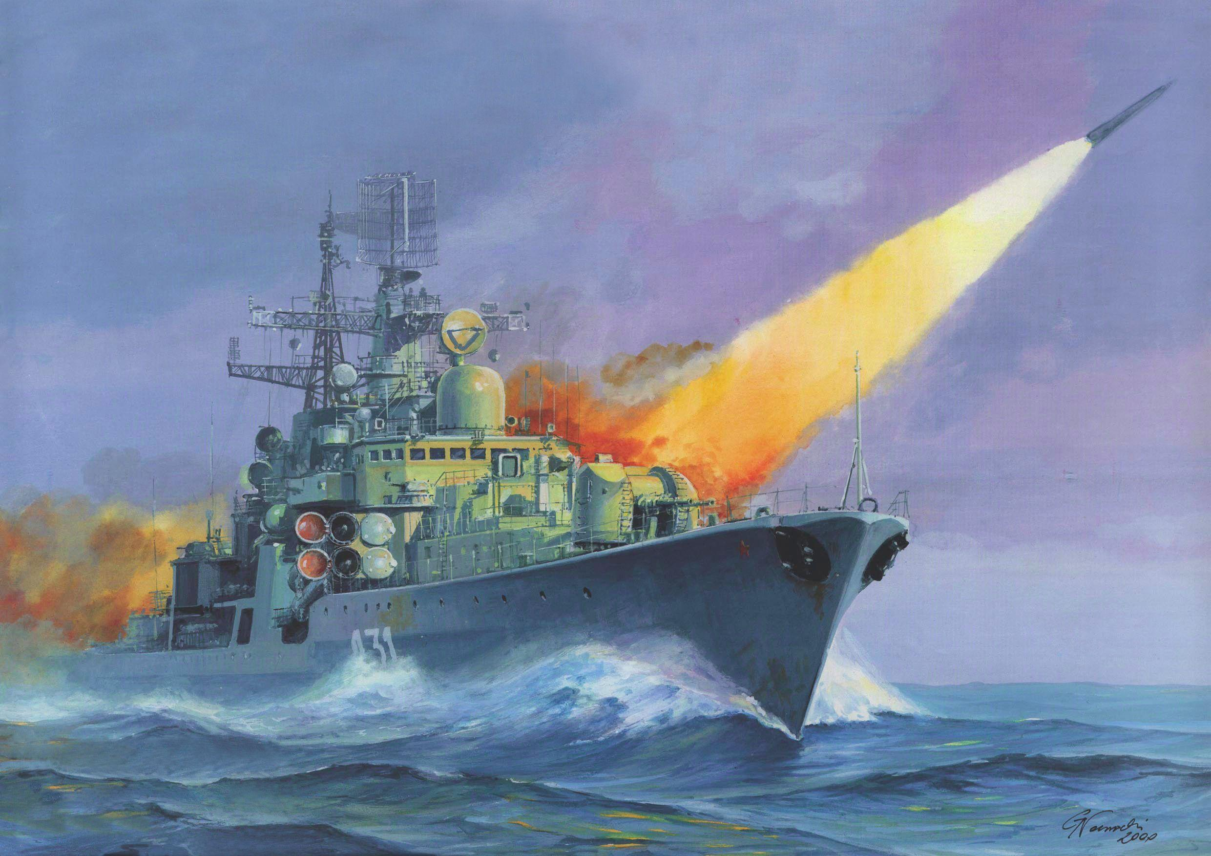 Ships Ship Boat Painting Military Navy Russian Wallpapers