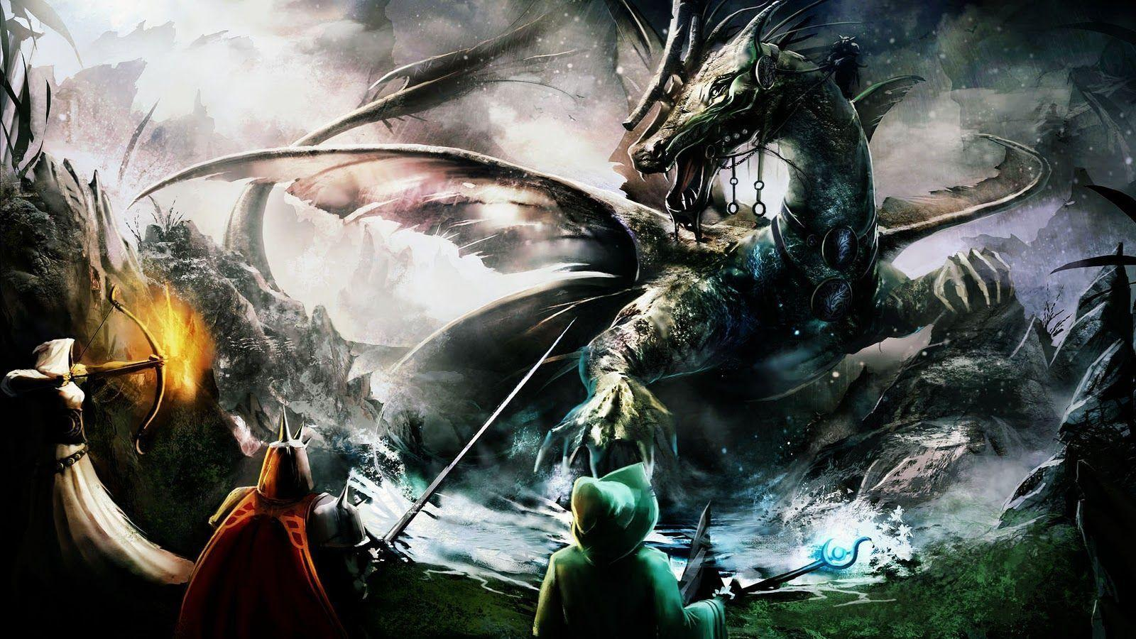 Wallpapers For > Dragon Wallpapers Hd Widescreen
