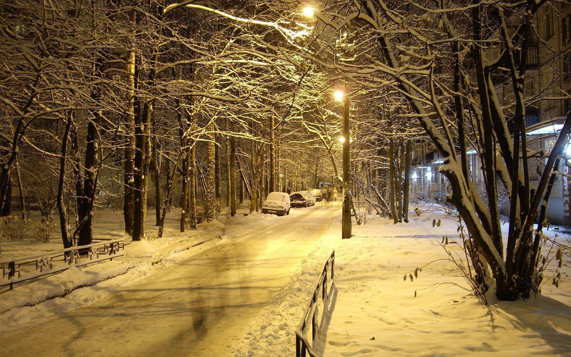 Wallpapers For > Winter Night Wallpapers Widescreen