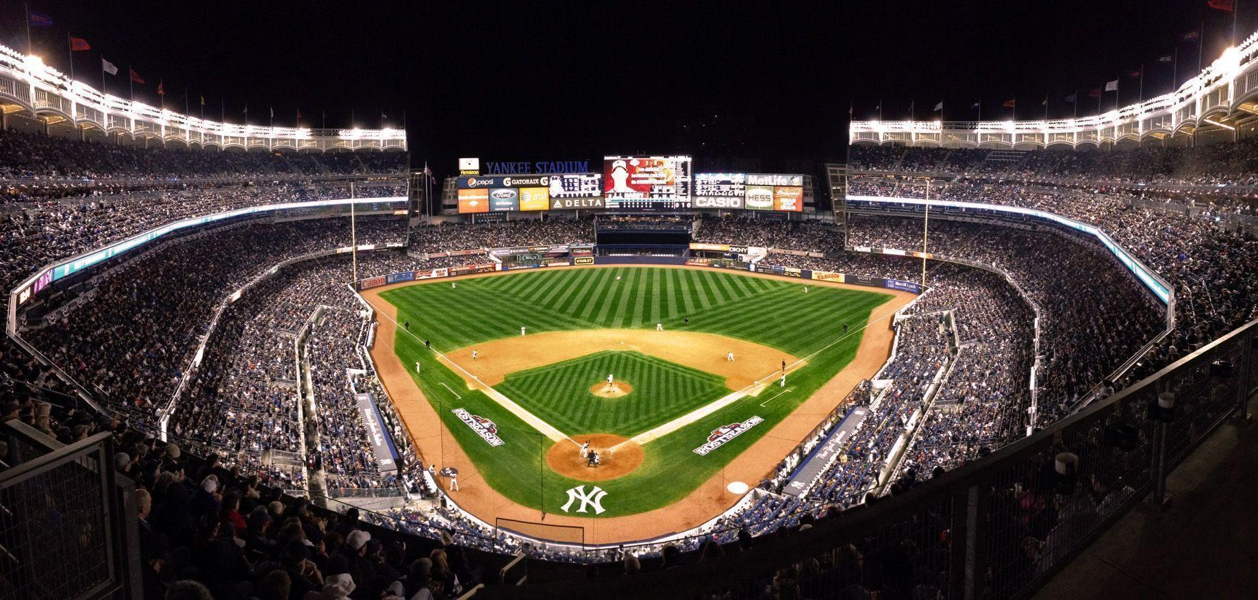 Empty Yankee Stadium At Night Yankee Stadium Wallpap...