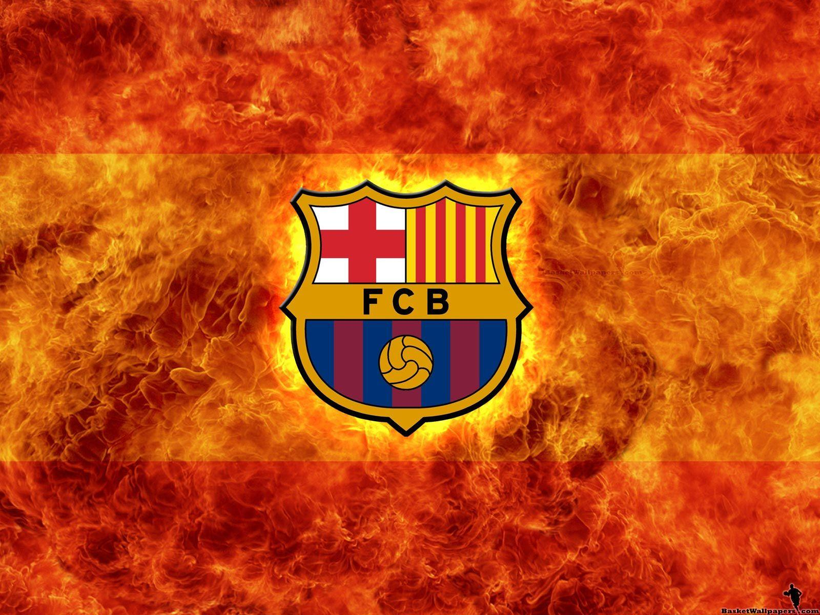 Fc Barcelona Football Logo Fire HD Wallpapers Wallpapers