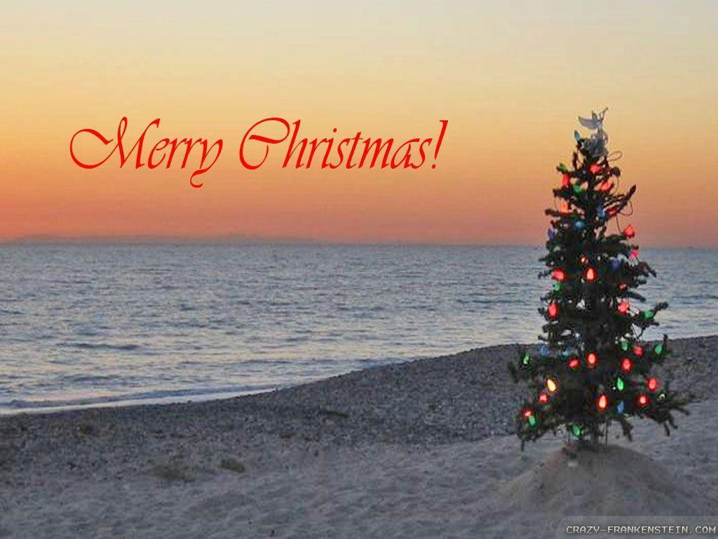 christmas tree beach wallpaper images pictures download hd - Merry Christmas Beach