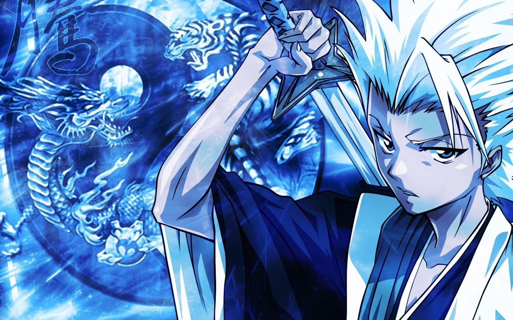 Blue Anime Guy Widescreen Wallpaper Wide