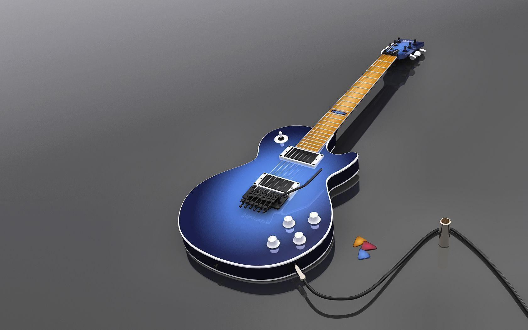 Gibson Guitars Les Paul Blue Wallpapers