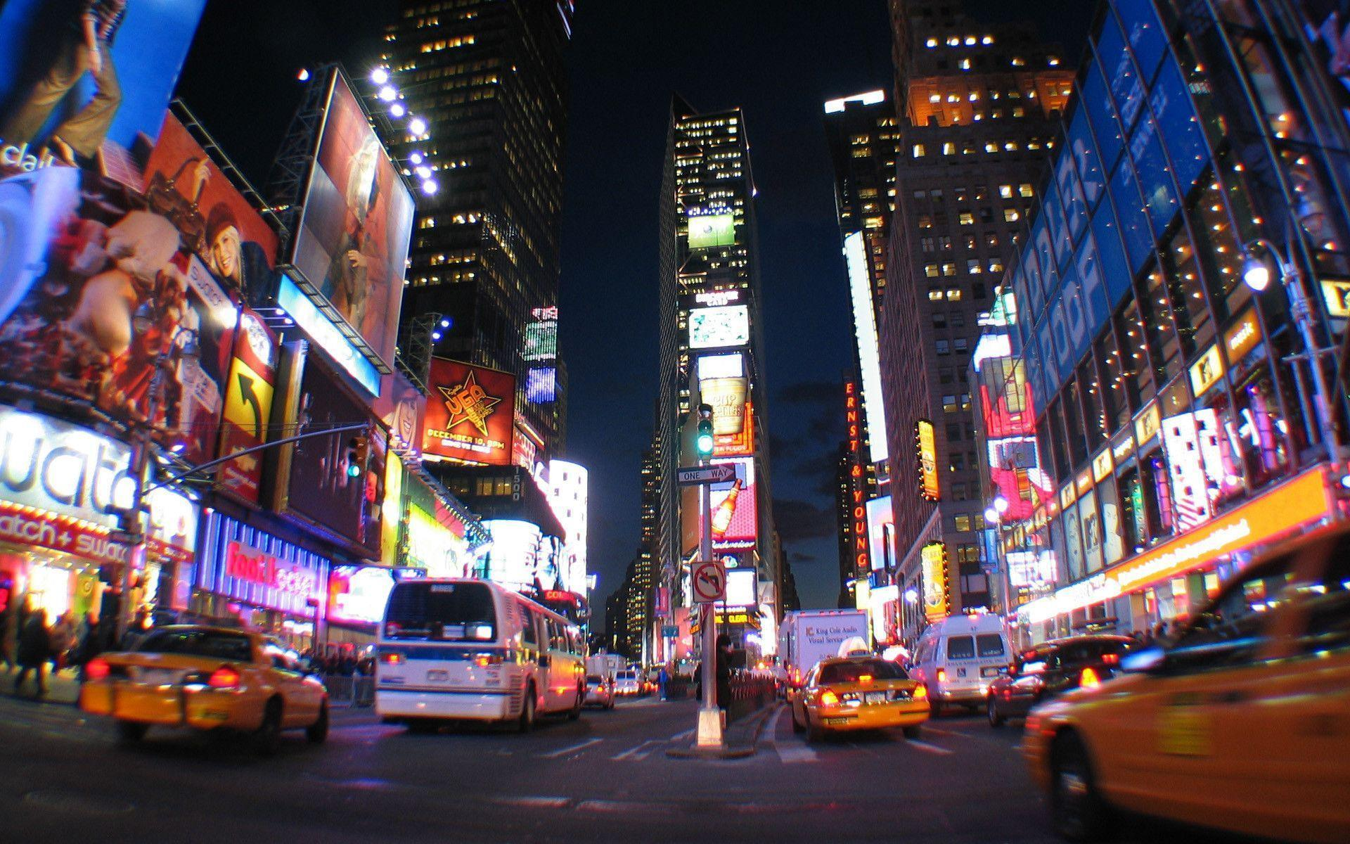 Pix For > Times Square Wallpaper At Night