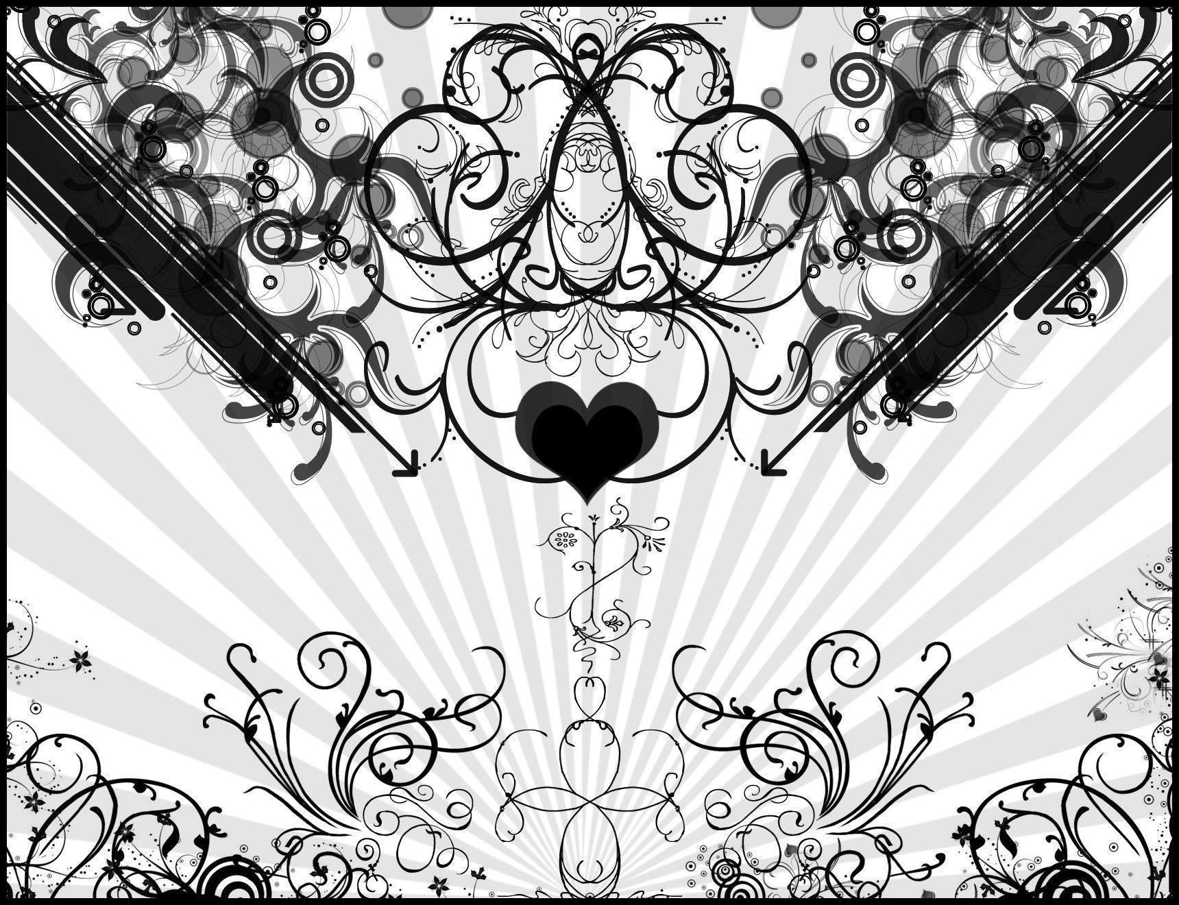 Black And White Heart Wallpapers Wallpaper Cave