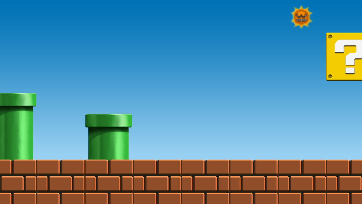 Mario Login Screen Backgrounds by J