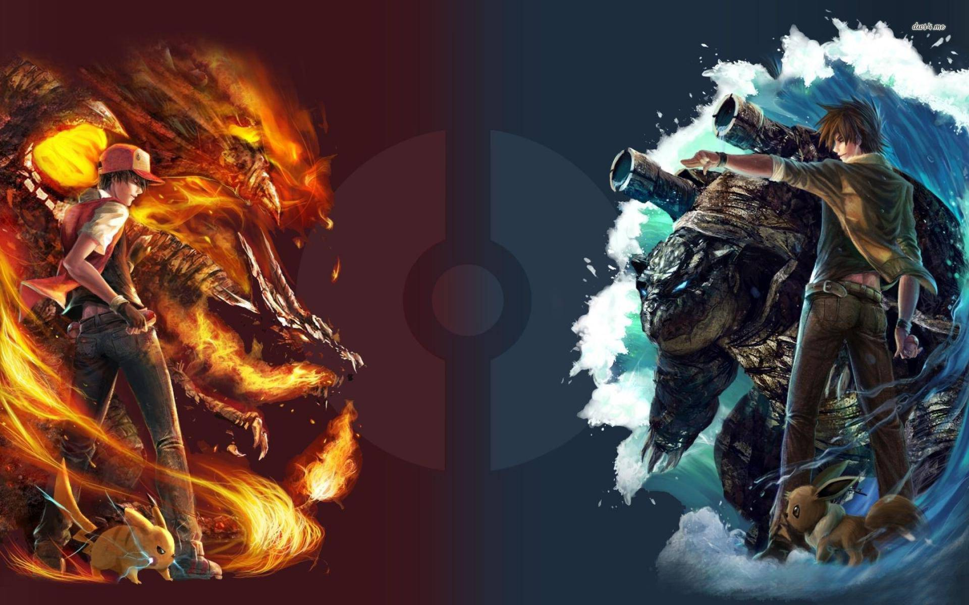 Red Vs Blue Wallpapers Wallpaper Cave