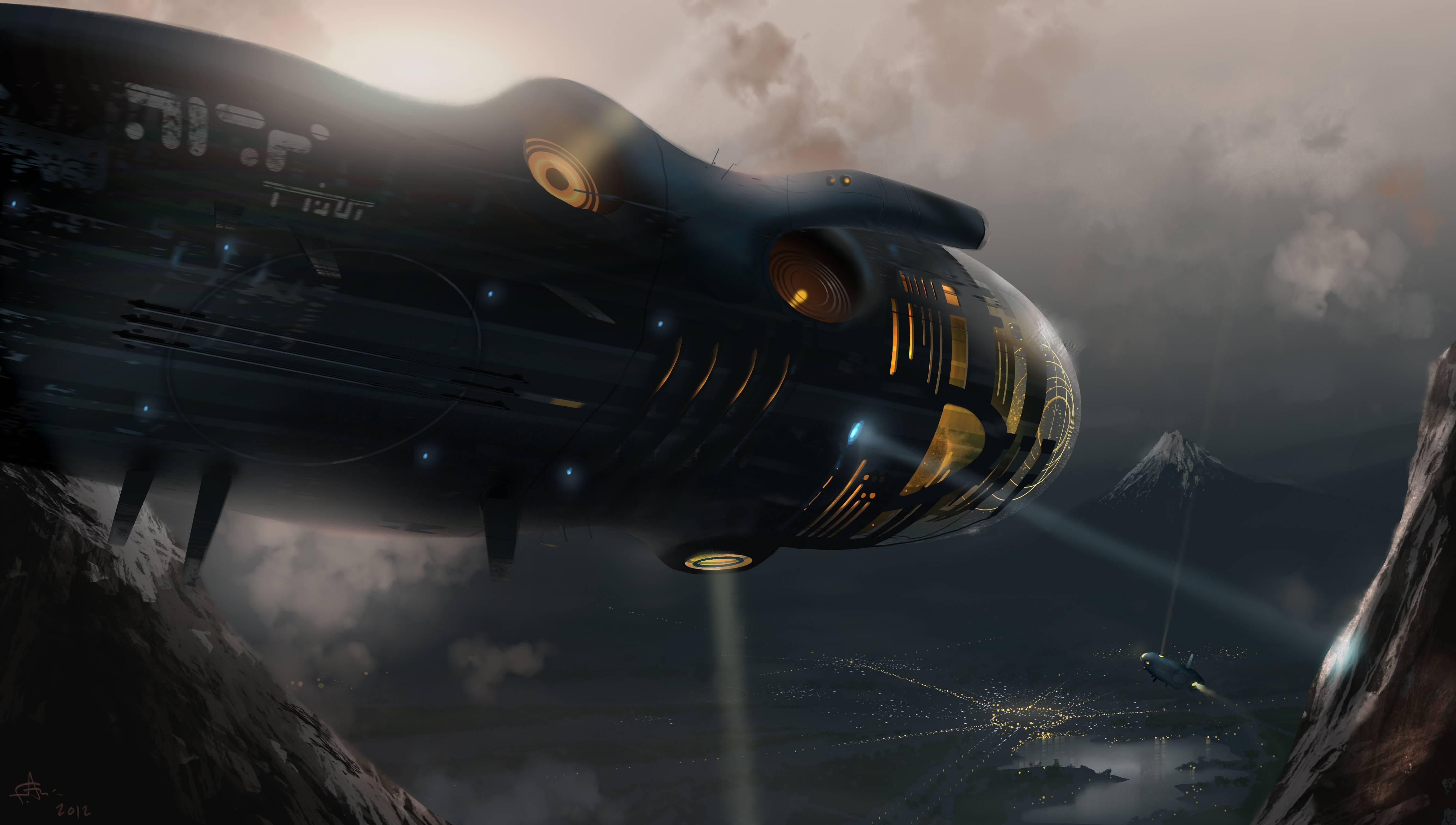 Technics spaceship wallpaper | 4500x2550 | 82531 | WallpaperUP