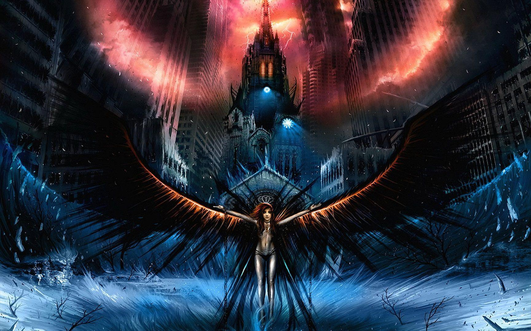 Dark angel backgrounds wallpaper cave - Dark angel anime wallpaper ...